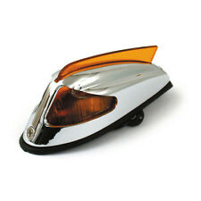 Front Fender Light 50-57 Style Chrome with Orange Light for Harley - Davidson