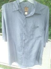 Bruno B Mens Multicolor Pattern Button Front Shirt Short Sleeve Size Large