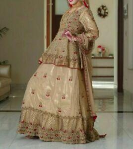 Wedding lengha UK size 6 to 8 or 34-36 Bollywood Pakistani Indian bridal bride.