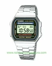 New CASIO Retro Classic Unisex Digital Steel Bracelet Watch- A168WA-1YES SILVER