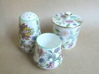 MINTON HADDON HALL CRUET PEPPER  / SALT POT / LIDDED MUSTARD POT - 1ST (Ref4993)