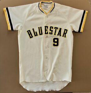 Bluestar Blue Star Baseball Vintage Baseball Jersey Large