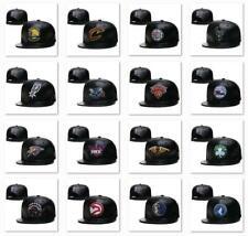 New Leather Flat Brim Basketball NBA Teams Hat Adjustable Snapback Baseball Cap