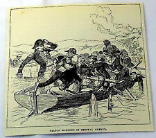 1880 magazine engraving ~ Nelson Wounded In Central America