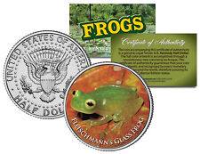 FLEISCHMANN'S GLASS FROG * Collectible Frogs * JFK Kennedy Half Dollar US Coin