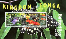 Tonga 2016 MNH Butterflies 2v M/S Insects Lime Swallowtail Butterfly EMS Stamps