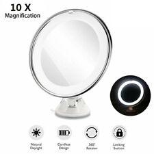 10X Grossissant Maquillage Miroir de Toilette Portable avec LED LumièRe