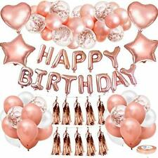 Rose Gold Birthday Balloons Happy Birthday Balloons for Women Girls