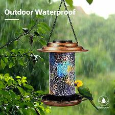 New Solar bird Wild Bird Feeder Led Light Beautiful Yard Garden Outdoor Decor Us