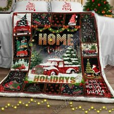 Home For The Holiday Red Truck Sofa Throw Blanket Block Of Gear™