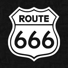 Route 666 Devil Satan Rat Roadtrip kult V8 OEM Sticker Auto Aufkleber JDM 10cm