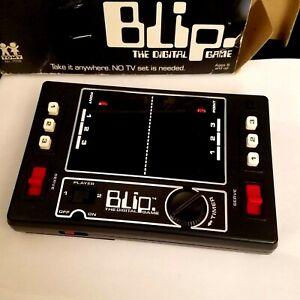 Rare 1977 Tomy Blip Vintage Handheld Video Game in Original Box Works Great