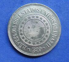 LB) Brazil Brasil -  200 Reis 1899 KM#493   NICE COIN