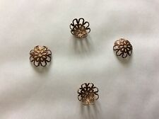 Copper plated bead caps approx 10mm x 75 p db