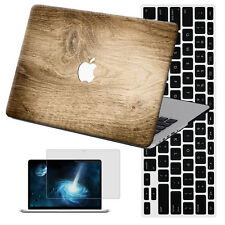 "Wood Painting Hard Case Cover +KB +SP For New Macbook Pro Air 11""13""15 Retina 12"