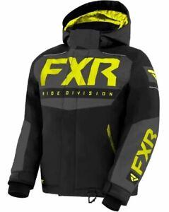 "FXR ""HELIUM"" JACKET SNOWMOBILE COAT REMOVABLE HOOD HI-VIS YOUTH/CHILD PICK SIZE"