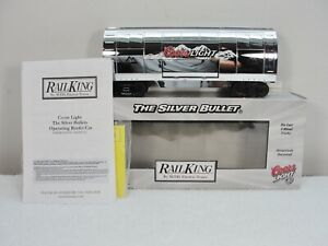 MTH 30-78040 Coors Light Silver Bullet Operating Reefer Car - New. Read below