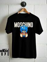 Moschino Transformer Teddy T-shirt Moschino Logo For Men's Size M-3XL,100%Cotton