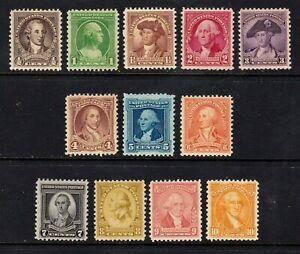 United States stamps #704 - 715, most MNH, many XF, full set, SCV $107.05