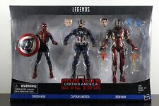 3-PACK SPIDERMAN CAPTAIN AMERICA IRON MAN Figure Marvel Legends Series Civil War