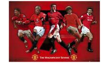 Manchester United Magnificent Sevens Poster - Beckham, Ronaldo, Best, Cantona +
