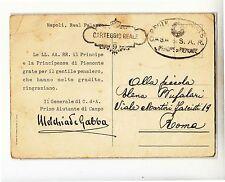 193x cartolina firma AUTOGRAFA generale MELCHIADE GABBA+t.CARTEGGIO REALE 9-e873