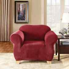 Sure Fit Stretch Pique Chair Slipcover in Red/Burgundy