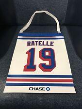 NY Rangers #19 Jean Ratelle Retirement Night Mini Banner MSG SGA 2/25/18