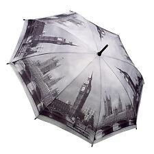 """Soake-Galleria Nero & Bianco """"London"""" ombrello pieghevole automatico in confezione regalo"""
