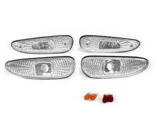 4PC COMBO DEPO Clear Front + Rear Side Marker Light For 1993-1995 Mazda RX-7 RX7