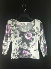Cach'e Angora Flower Print and sequin Sweater
