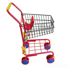Kids Shopping Trolly Red - Supermarket Cart Pretend Role Play Toy