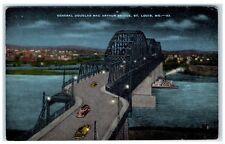 Mid-1900s General Douglas MacArthur Bridge, St. Louis, MO Postcard