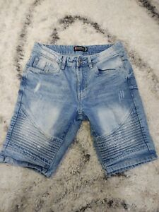 Men's Southpole Blue Denim Jean Shorts Size 30 With Love  Ripples!