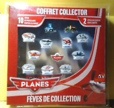FEVES COFFRET COLLECTOR  RARE  PLANES  SERIE COMPLETE + 2 FEVES CARS HORS SERIE