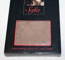 Sofia by Sofia Vergara Sheer  Panty Hose w/ Lace Panty Nude PLUS 3/4