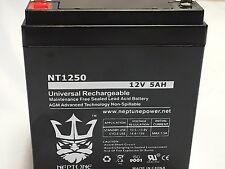 12V 5AH Replaces Universal Battery UB1245 & UB1250