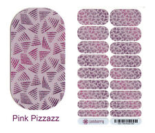 PINK PIZZAZZ Jamberry Nail Wraps FULL SHEET Brand New + Extras! RETIRED