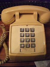 Vintage General Electric Push Button Phone Yellow/Mustard