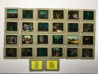 Vintage Colored Glass Slide Lot of 26 Religious Slides~ Victor Animatograph Co