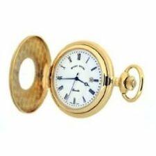 Mount Royal B8 Pocket Watch Gold Plated Half Hunter Quartz WW1192