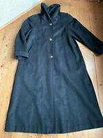 Trenchcoat Loden Mantel von Alphorn Wintermantel schwarz Schurwolle 48 50