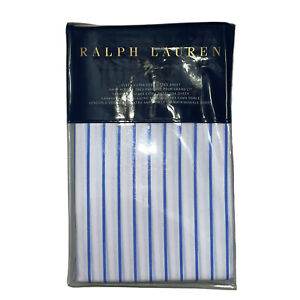 Ralph Lauren Prescott Stripe Queen Ex Deep Fitted Sheet Polo Navy/White Cotton