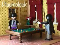 BILLARD CUSTOM POOL TABLE WESTEN VIKTORIANISCHE FIGUREN PLAYMOBIL NICHT