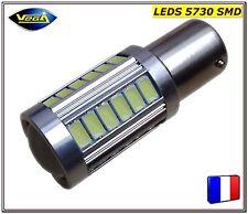 1 Ampoule P21/5W BAY15D rouge 33 leds 5730 SMD 12V DC