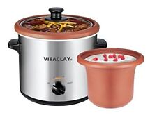 VitaClay 2-in-1 Stainless Steel Slow Cooker & Yogurt Maker & Clay Insert - 2 Qt