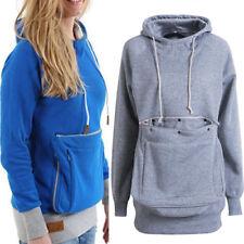 UK Cat Dog Pet Pocket Women Men Kangaroo Coat Hoodies Jumper Sweatshirt Tops HOT