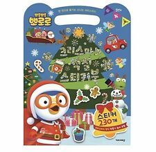 [Pororo] Christmas Sketch And Sticker Book Kids Education Korean Edition Child