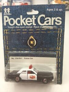 TOMY TOMICA 1974 POCKET CARS No 178 F8 POLICE CAR DODGE CORONET 1:64 JAPAN MIP