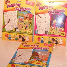 Artbox Pintar por números Junior 3 diseños de pintura de su tema favorito